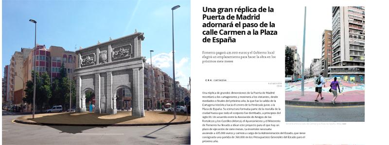 HUMA CONSTRUIRÁ RÉPLICA DE LAS PUERTAS DE MADRID